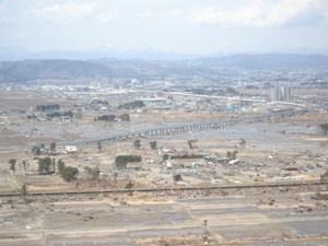 右中央が第1育苗場付近(名取市)