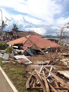 Destroyed Home in Ajuy