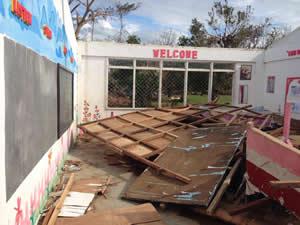 Destroyed school in Ajuy