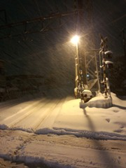 雪の中、2時間歩いて帰宅。