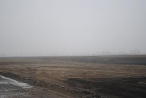 名取市海岸林の北半分のガレキ仮置き場・処分場は完全撤去、整地され、 林野庁による植栽基盤造成工事開始目前。