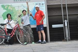 自転車2台と自動車1台で手分けして。まだ知らない名取を知ることができました