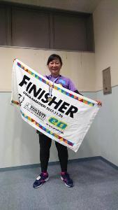 完走メダルと記念タオルです。欲しかった!!