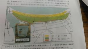 虹ノ松原のゾーンニング図 当たり前のことすぎるのか、案外明確に図面化、公表資料化されていません。そういうことも「林業業界」らしい