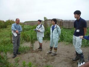 千葉県北部林業事務所、千葉県農林総合研究センターの方々との意見交換