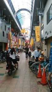 20㎞地点。最初に脱線した商店街。とんでもなく長い。気づいたら九条駅