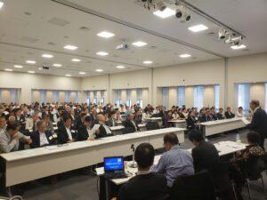 10月1日東京での国際協力の日の集い。230名の前で各国の戦いを報告